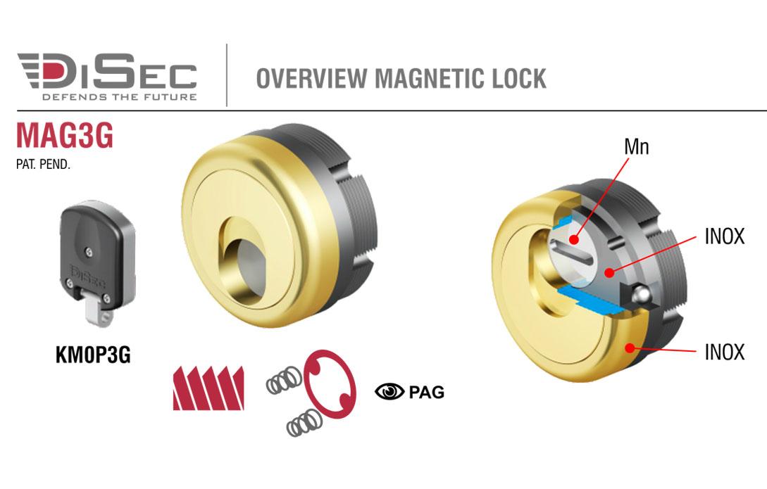 Disec mag3g sistema magnetico con spina in widia lr for Sistema anticalcare magnetico