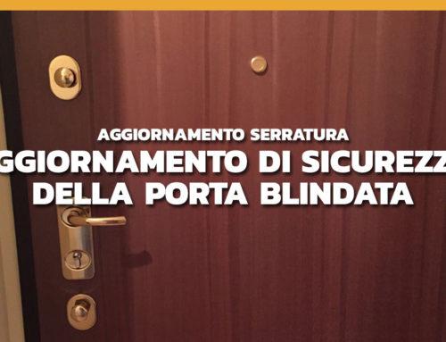 Modifica porta blindata con cilindro europeo Mottura e defender di protezione Disec