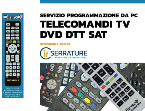 Nuovo servizio programmazione da PC telecomandi compatibili per TV DVD DTT SAT