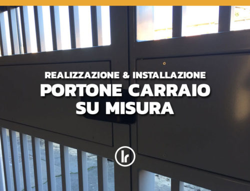 Installazione a Milano di portone carraio realizzato su misura