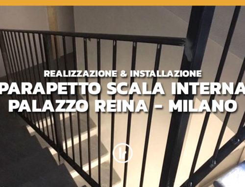 Realizzazione e installazione parapetto scala interna