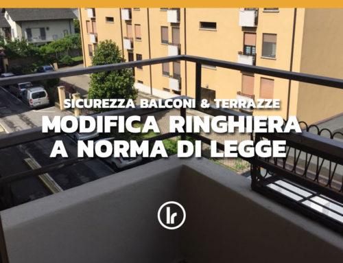 Realizzazione e installazione ringhiera su balcone