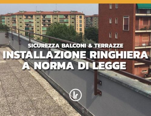 Realizzazione e installazione passamano su terrazza