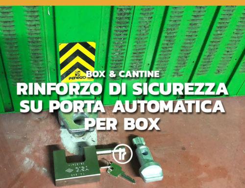 Rinforzo su una serranda basculante automatica per box a Milano