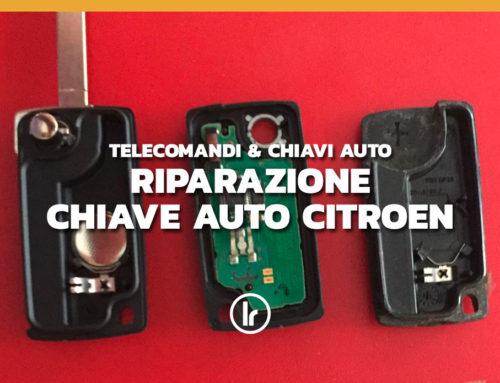 Riparazione e duplicazione di chiave auto Citroen senza telecomando