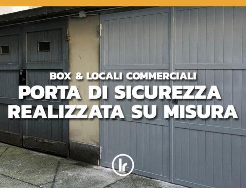 Porta di sicurezza a due ante realizzata su misura a Milano