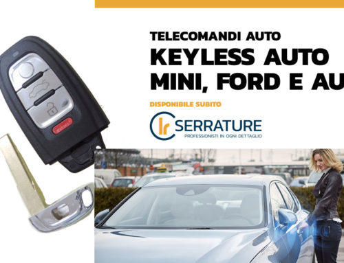 Nuovi arrivi: keyless auto Mini, Ford e Audi