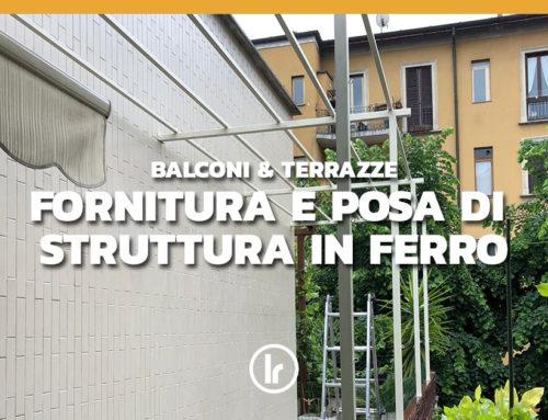 Realizzazione ed installazione struttura in ferro tubolare