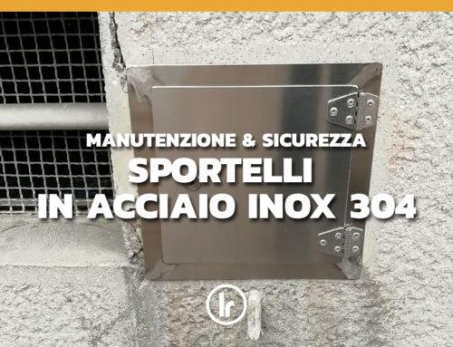 Installazione in condominio a Milano di sportelli in Acciaio Inox