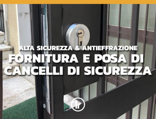 Fornitura ed installazione cancello di sicurezza realizzato su misura