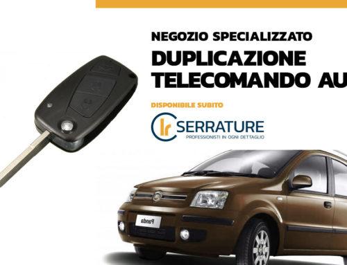 Duplicazione chiave telecomando Fiat Panda 2009