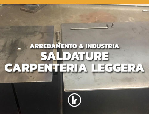 Saldature carpenteria leggera: piedistallo in ferro nero