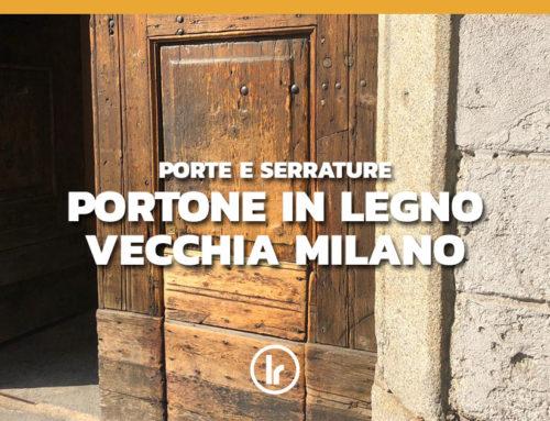 Riparazione a Milano di portone d'epoca in legno scardinato