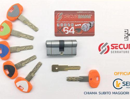 Securemme EVO K64: cilindro europeo di sicurezza con chiave a duplicazione protetta