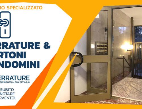 Progettazione ed installazione di nuovo portone in alluminio per condomino a Milano