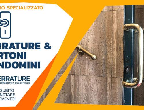 Sostituzione maniglione portone d'ingresso per condomino a Milano
