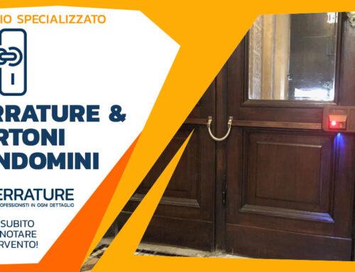 Aggiornamento di sicurezza e manutenzione portone condominiale a Milano