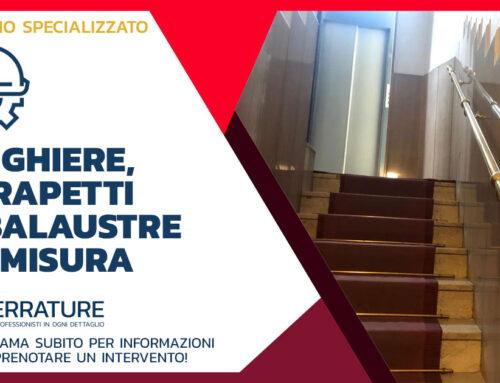 Installazione di corrimano totalmente in ottone lucido in zona Navigli a Milano