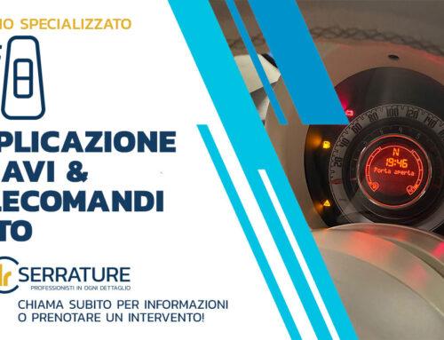 Duplicazione telecomando auto Fiat 500 direttamente in officina